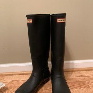 Tall original black matte Hunter boots